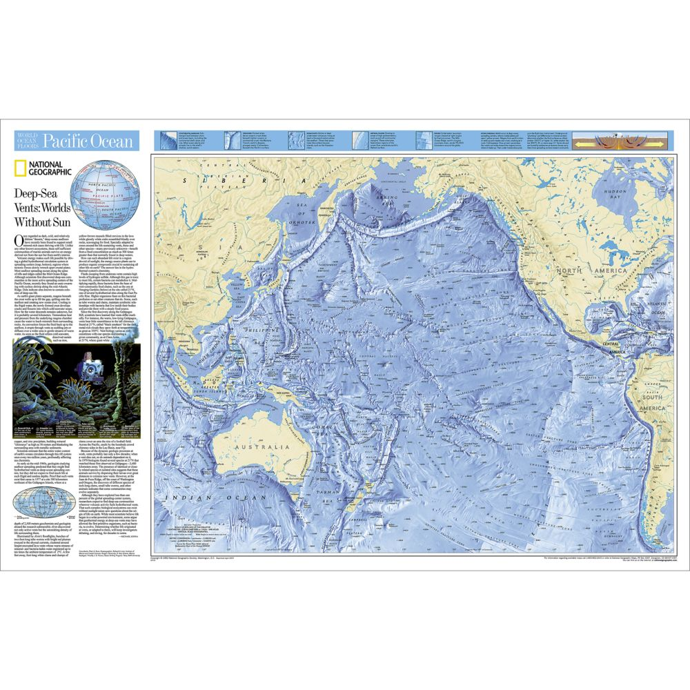 Pacific ocean floor map national geographic store sciox Choice Image