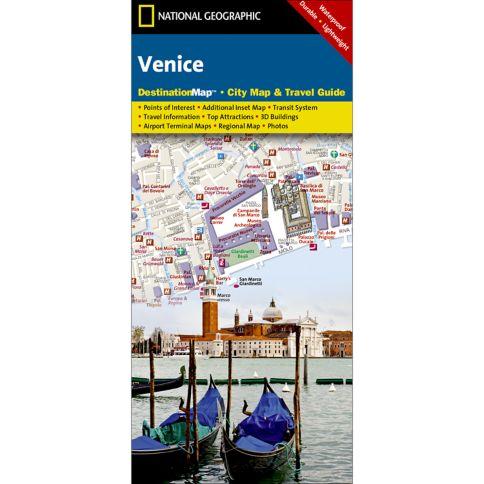 Venice Destination City Map National Geographic Store - Venice city map