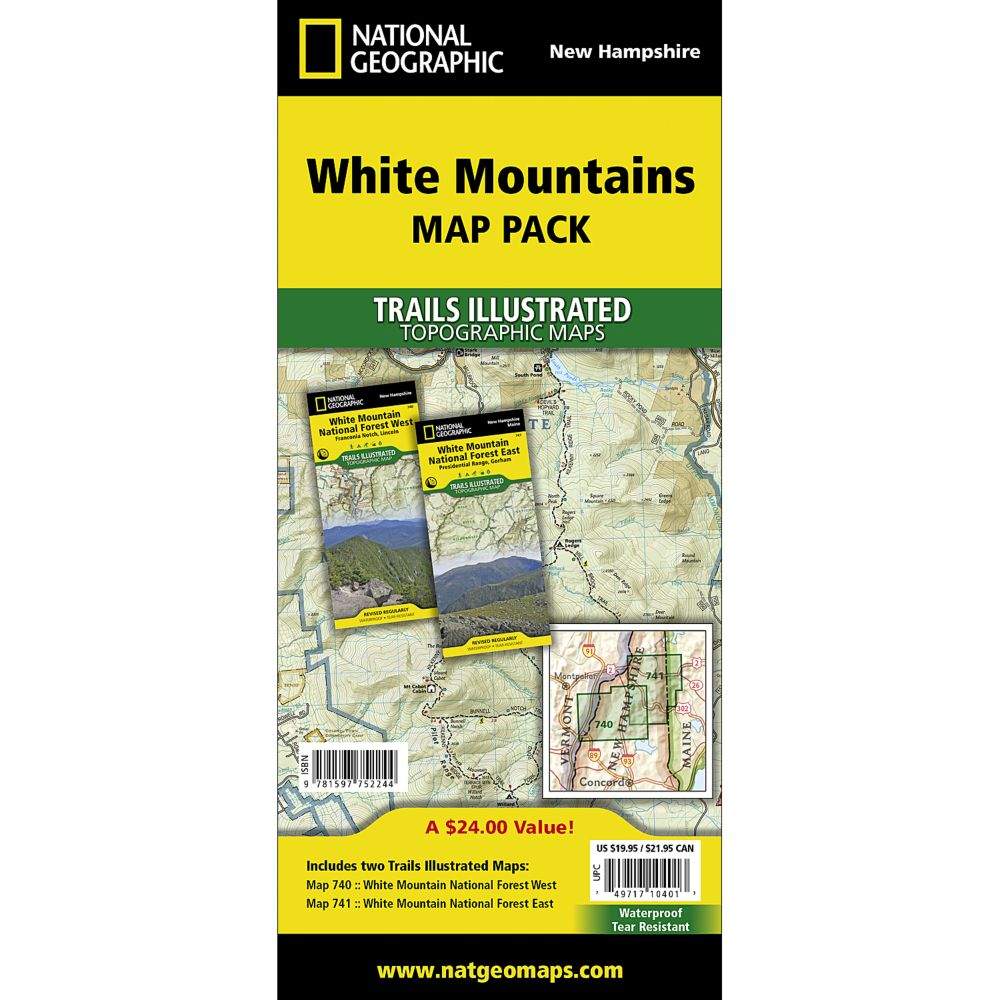 White Mountain National Forest Trail Maps Map Pack Bundle - Map of us national forest