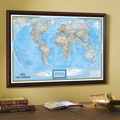 National Geographic My World Personalized Map Classic