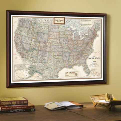 National Geographic My US Personalized Map Earthtoned - Earth map of us