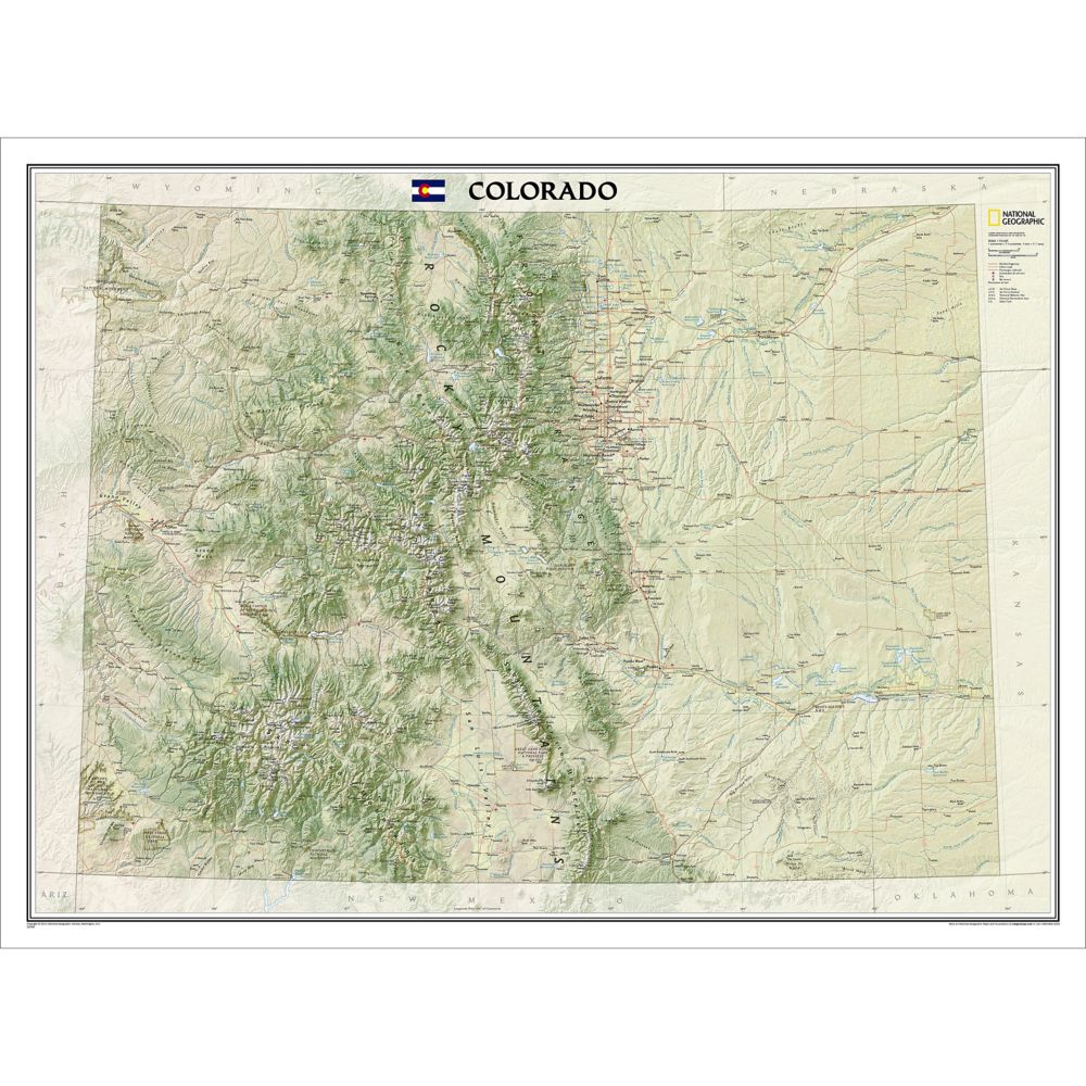 Colorado Wall Map National Geographic Store - Map of colorado