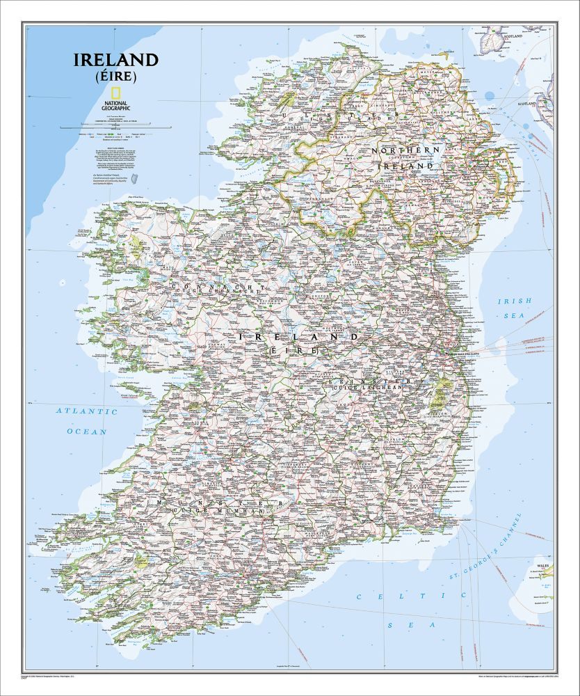 Ireland Political Map Classic National Geographic Store - Ireland political map