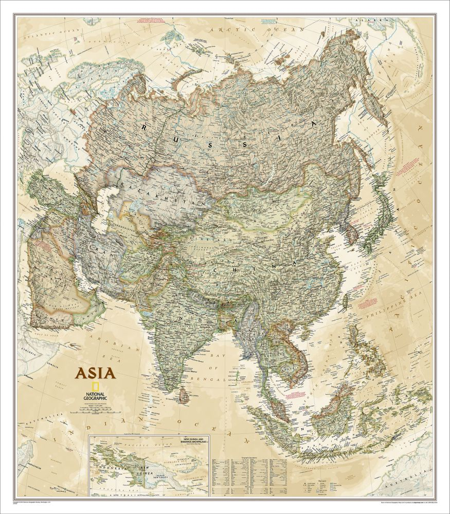 Asia executive wall map national geographic store 000 gumiabroncs Choice Image