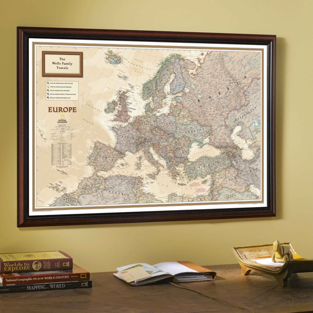 national geographic my europe personalized map earth toned