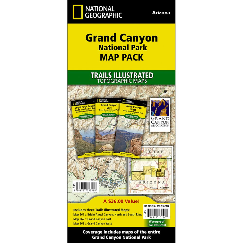 Grand Canyon National Park Trail Maps Map Pack Bundle National