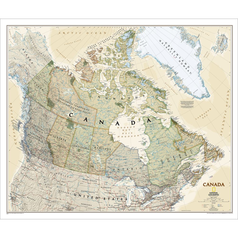 Canada executive wall map national geographic store gumiabroncs Choice Image