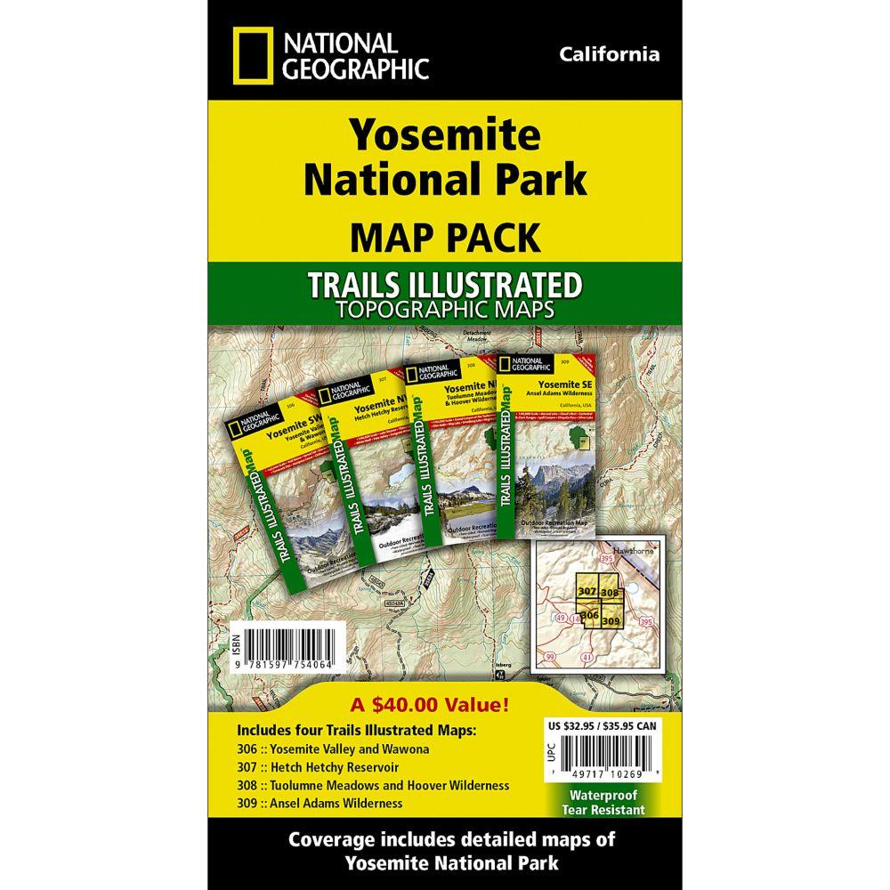 Yosemite National Park Trail Maps Map Pack Bundle National
