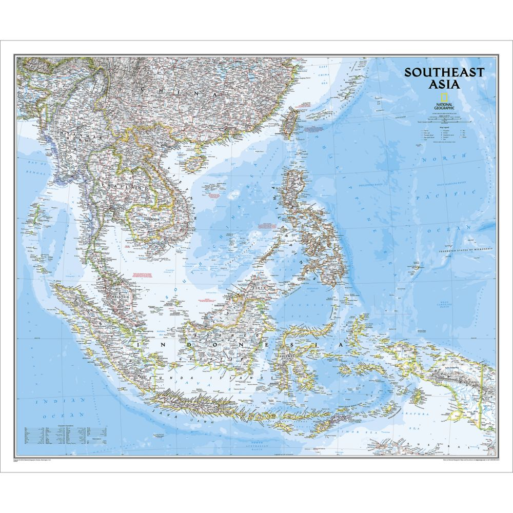 Southeast asia classic wall map national geographic store gumiabroncs Gallery