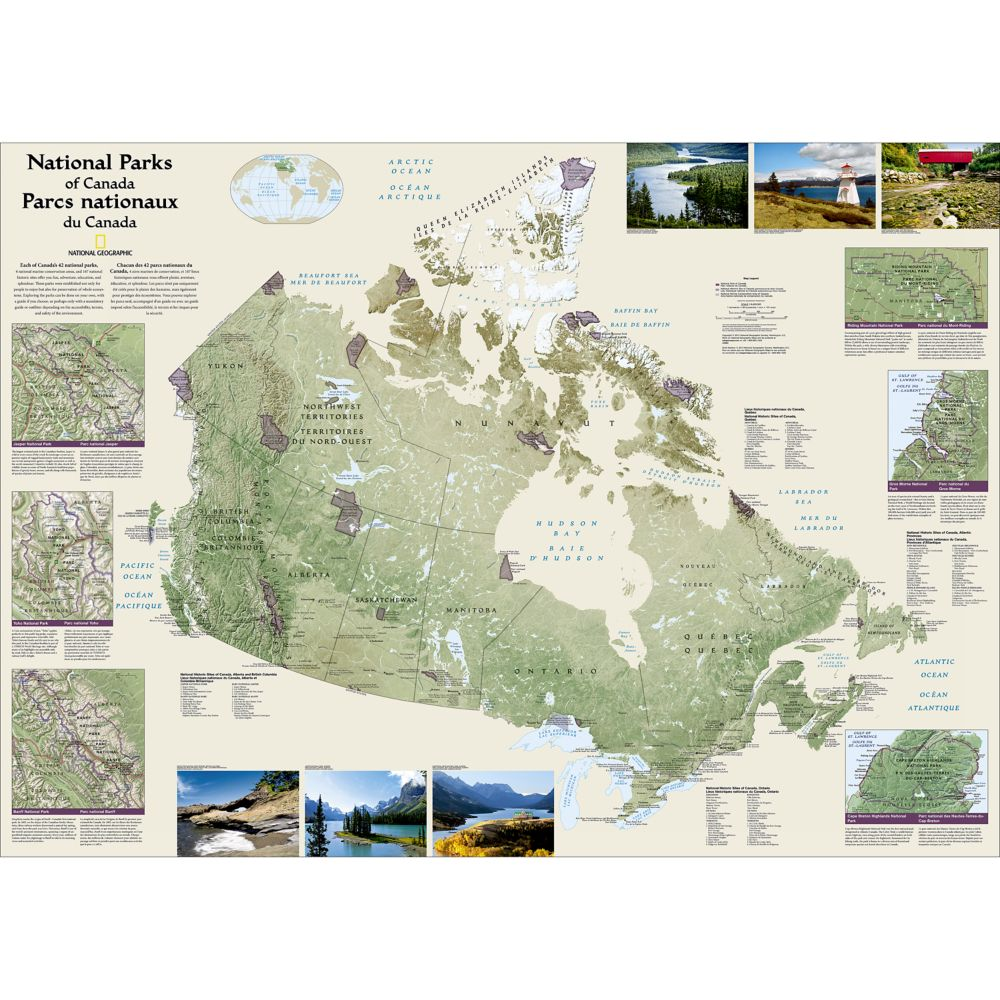 Canada national parks wall map laminated national geographic store sciox Images