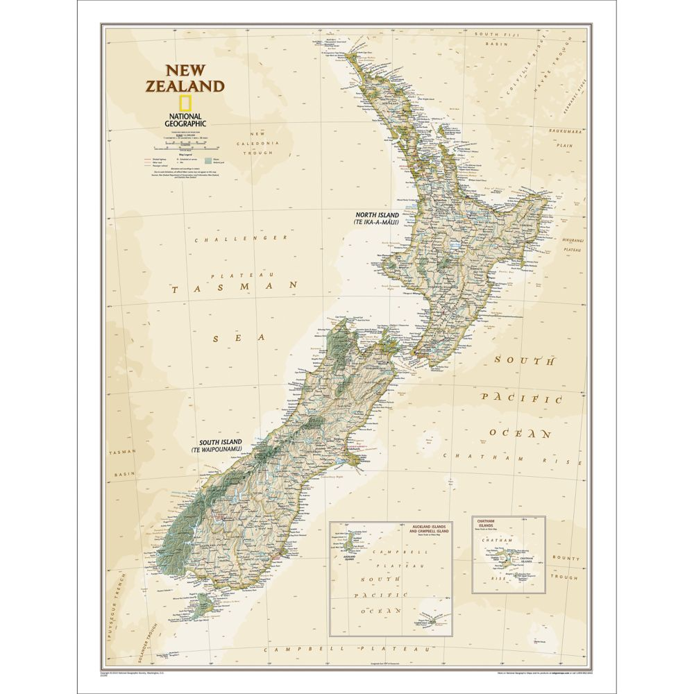 New maps latest world maps national geographic store new zealand executive wall map gumiabroncs Choice Image