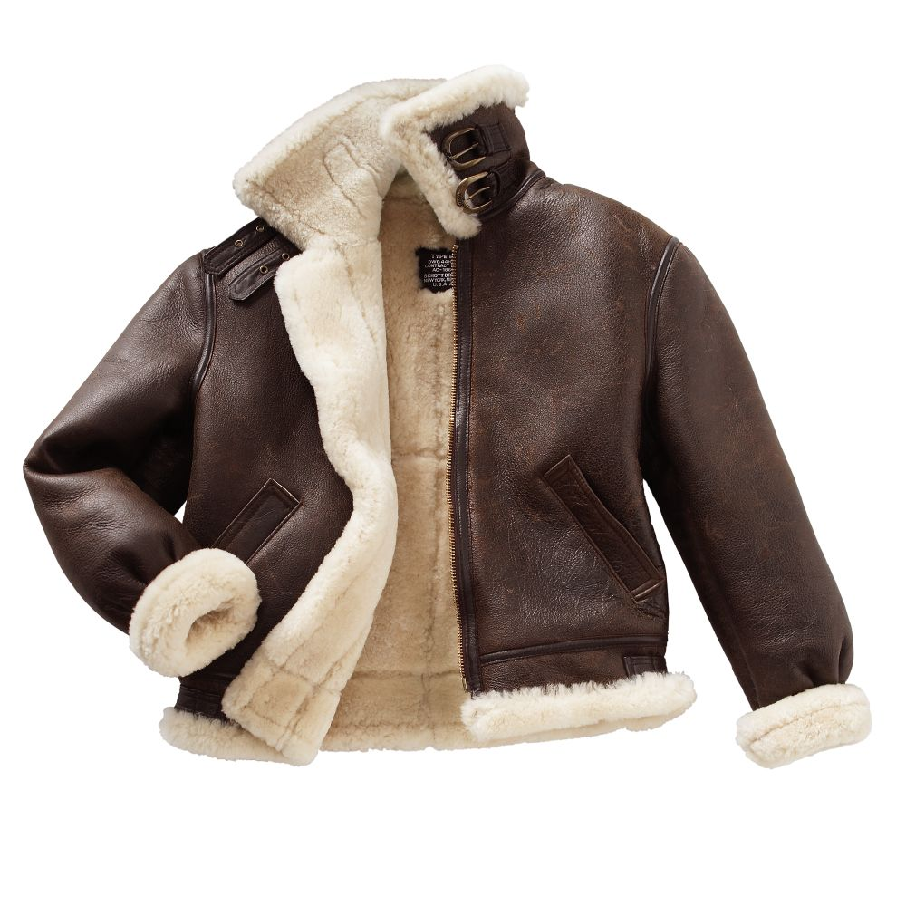 Men's Sheepskin B-3 Flight Jacket - National Geographic Store