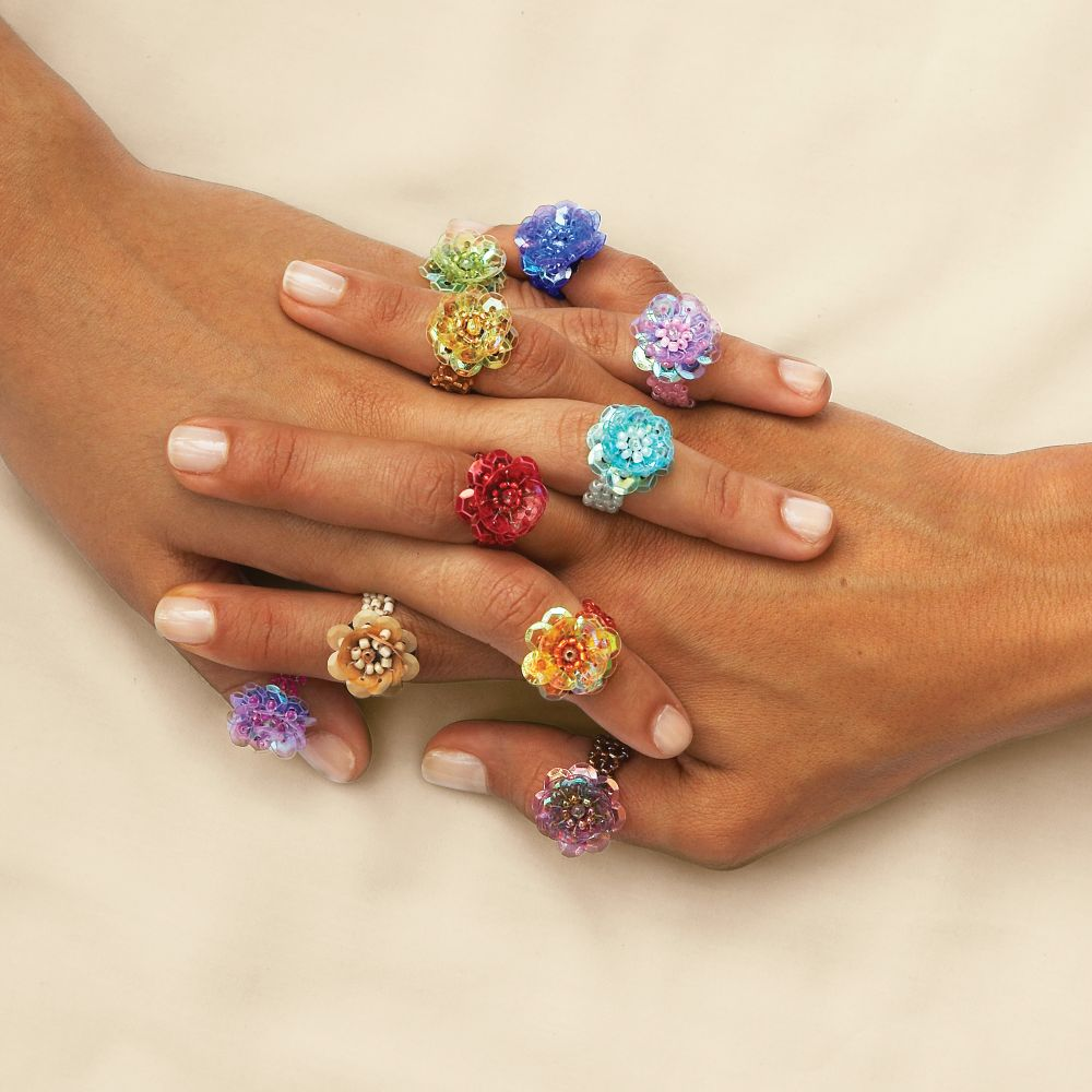 beads ring and gliter beaded bead rings pandahall tag blog diy jewelry
