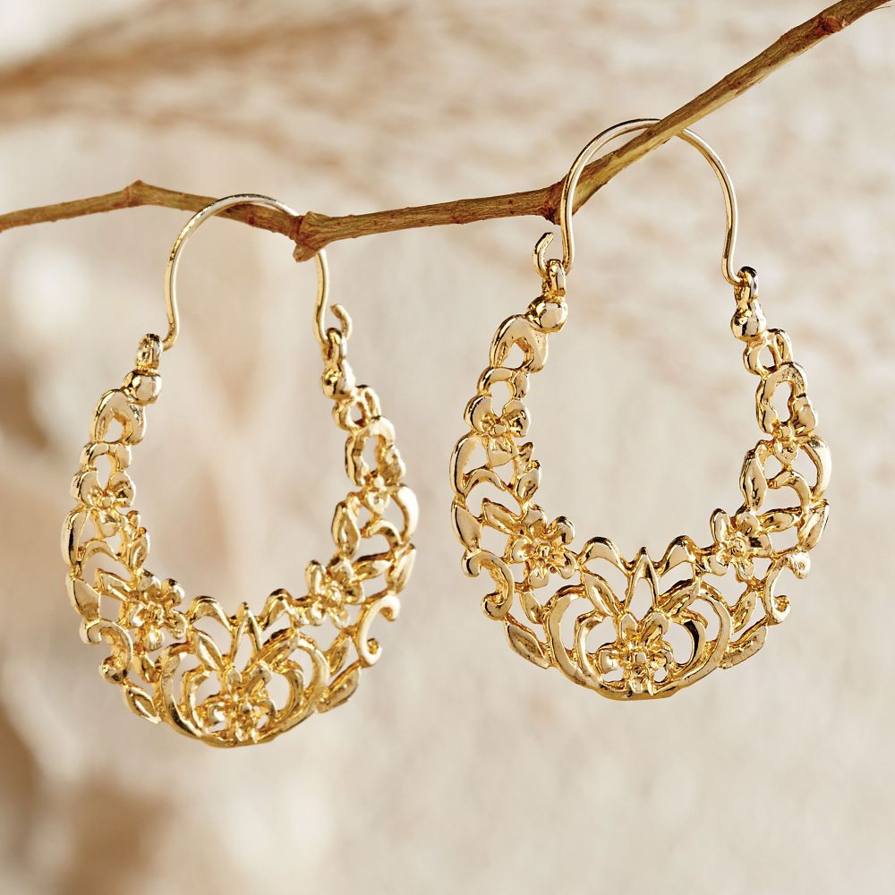 Egyptian Arabesque Gold Earrings - National Geographic Store