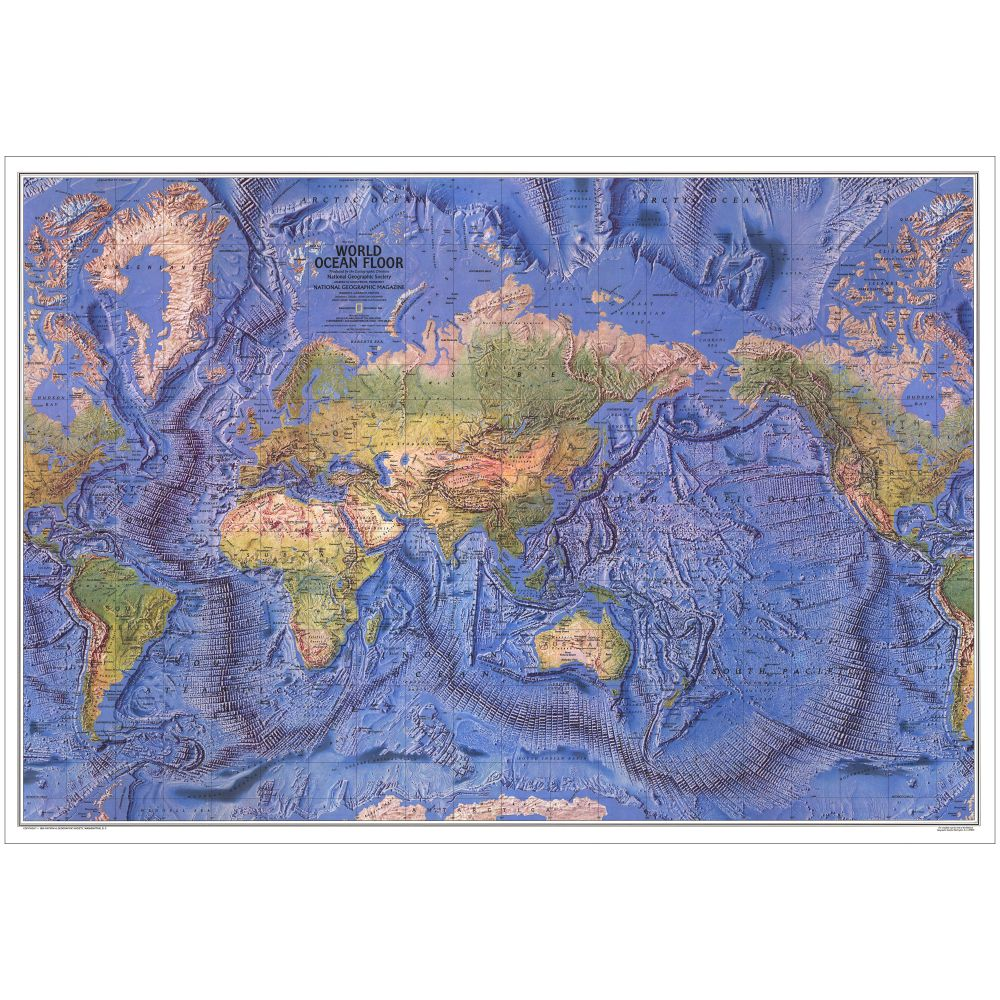 World Ocean Floor Map National Geographic Store - Map of world oceans