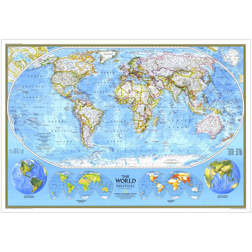 World Political Map National Geographic Store - World political map
