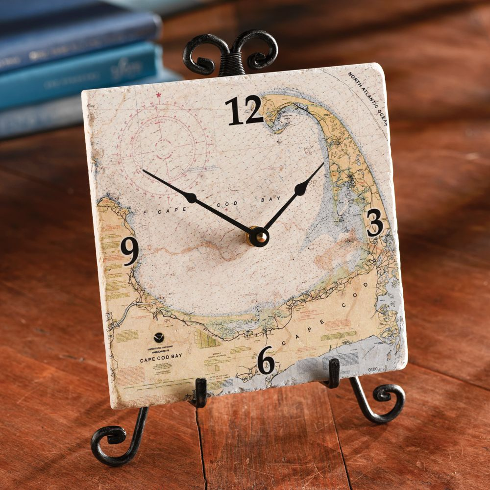 Custom nautical tile clock national geographic store dailygadgetfo Images