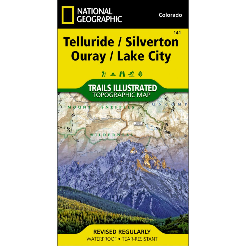 telluride silverton ouray lake city trail map  national geographicstore.  telluride silverton ouray lake city trail map  national