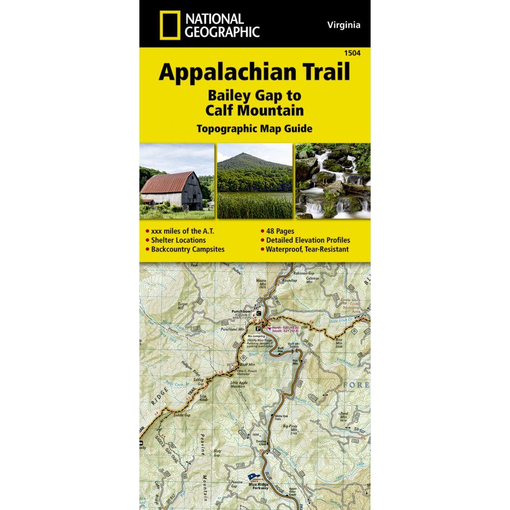 Appalachian Trail Bailey Gap To Calf Mountain Virginia - Calf map