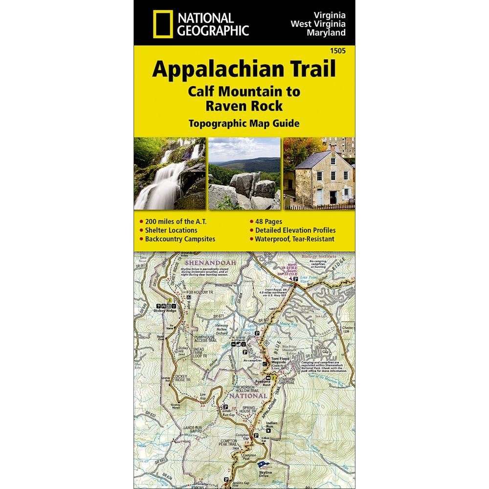 Appalachian Trail Calf Mountain To Raven Rock Virginia - Calf map