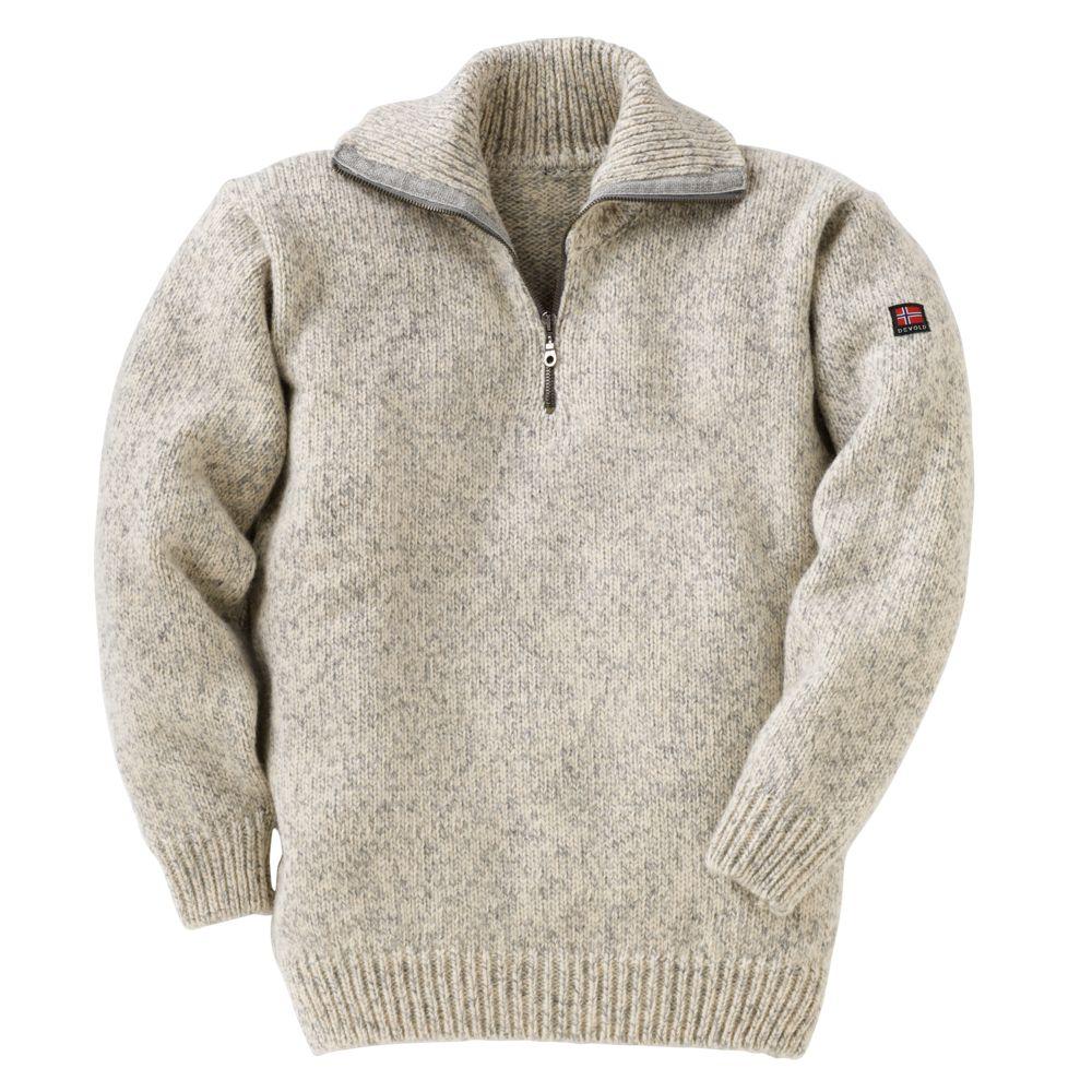 Norwegian Quarter Zip Wool Sweater