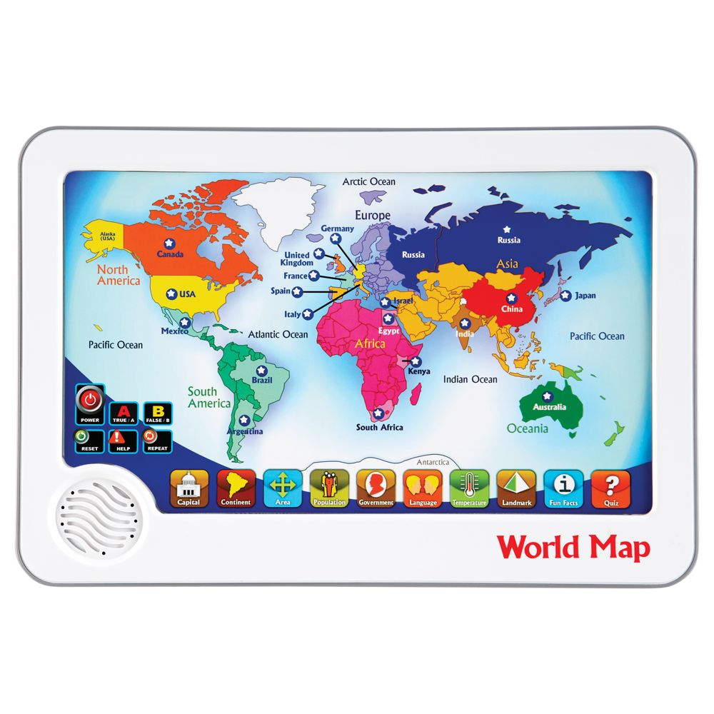 World Map Interactive Touch Pad Toy National Geographic Store - World interactive map