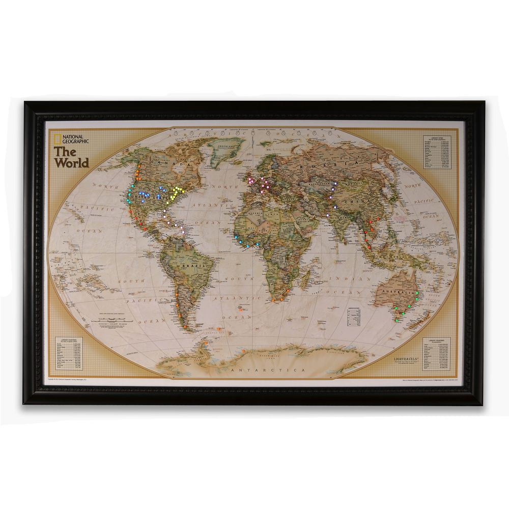 National geographic light your way customizable world map national geographic light your way customizable world map earth toned national geographic store gumiabroncs Image collections