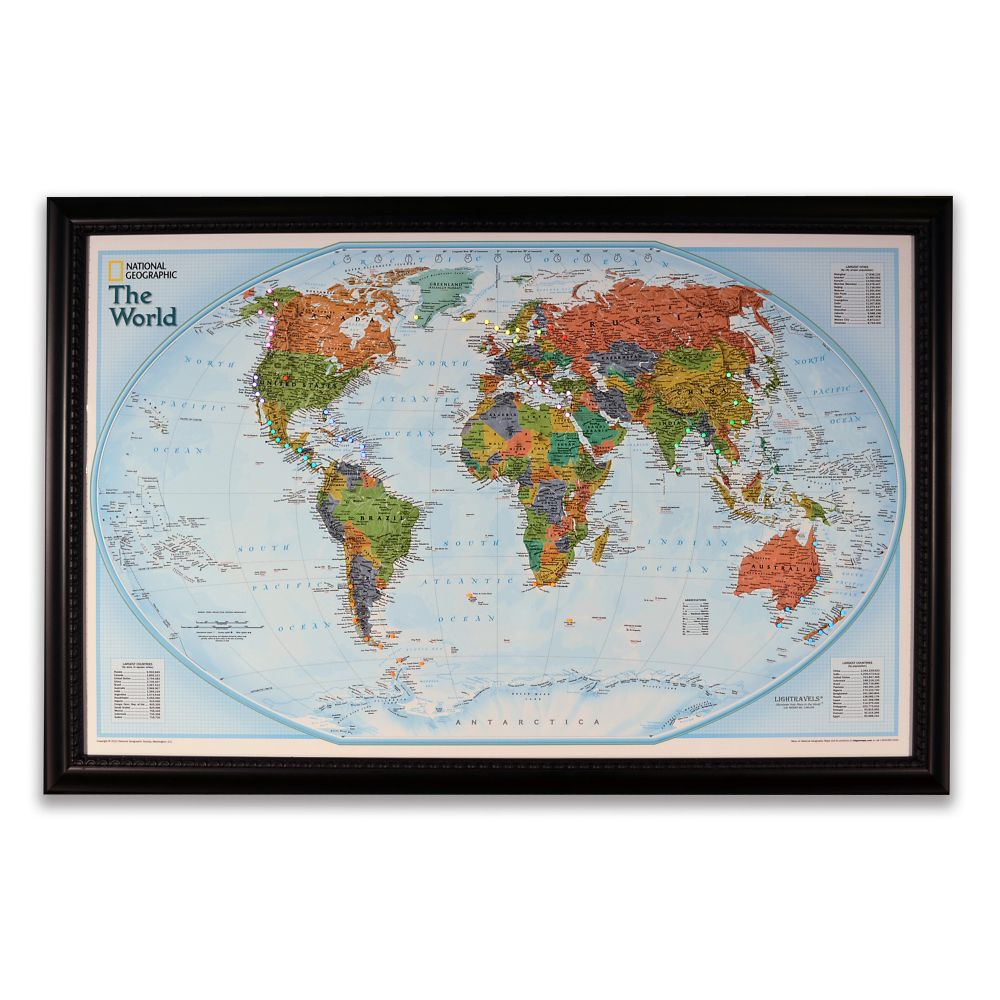National Geographic Light Your Way Customizable World Map - Human plaque dot map us