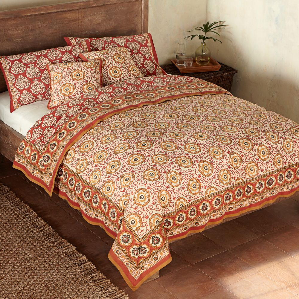 product pieces indian rose velvet printed cover embroidery zipper reversible queen covers detail duvet with