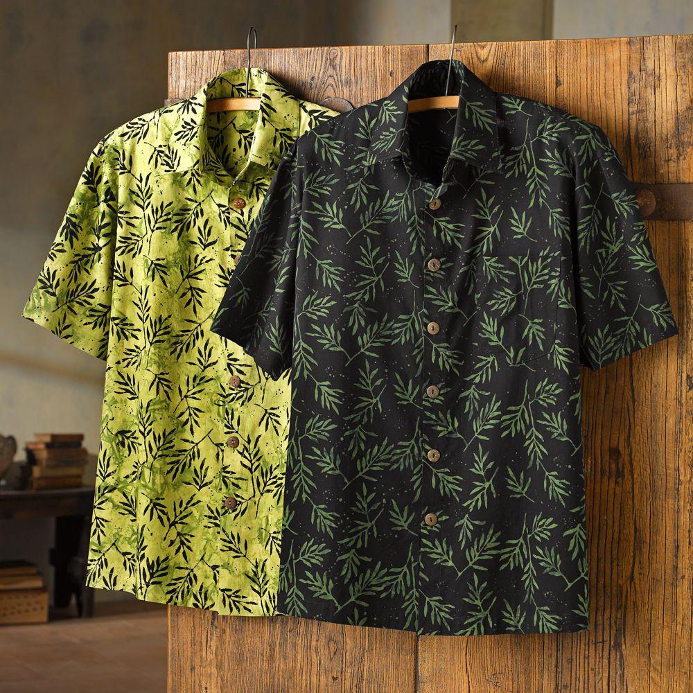 Indonesian Palm Batik Shirt