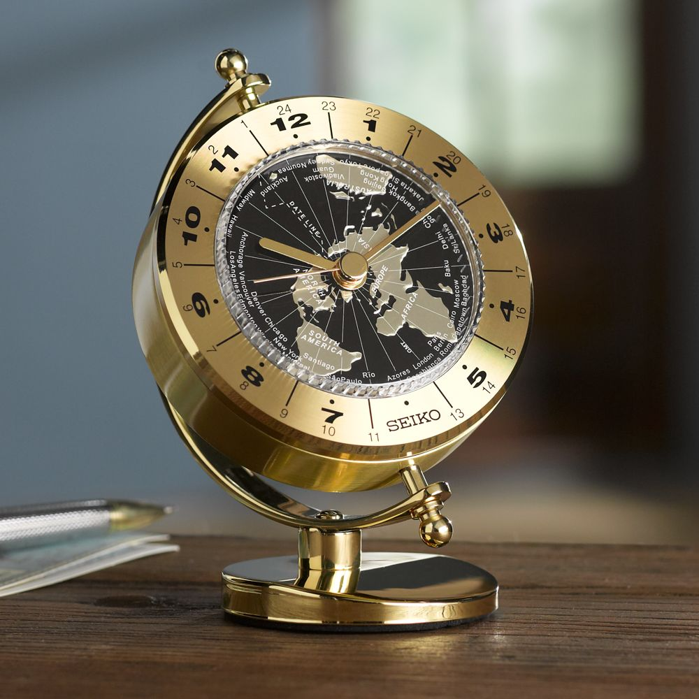 Seiko Globe World Time Clock National Geographic