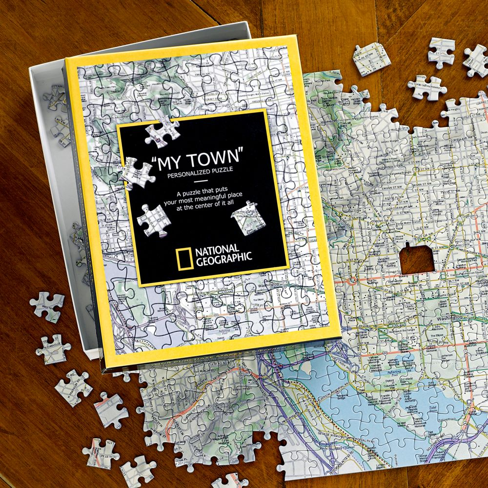 National Geographic My Town Custom Map Puzzle National - Us states map puzzle game