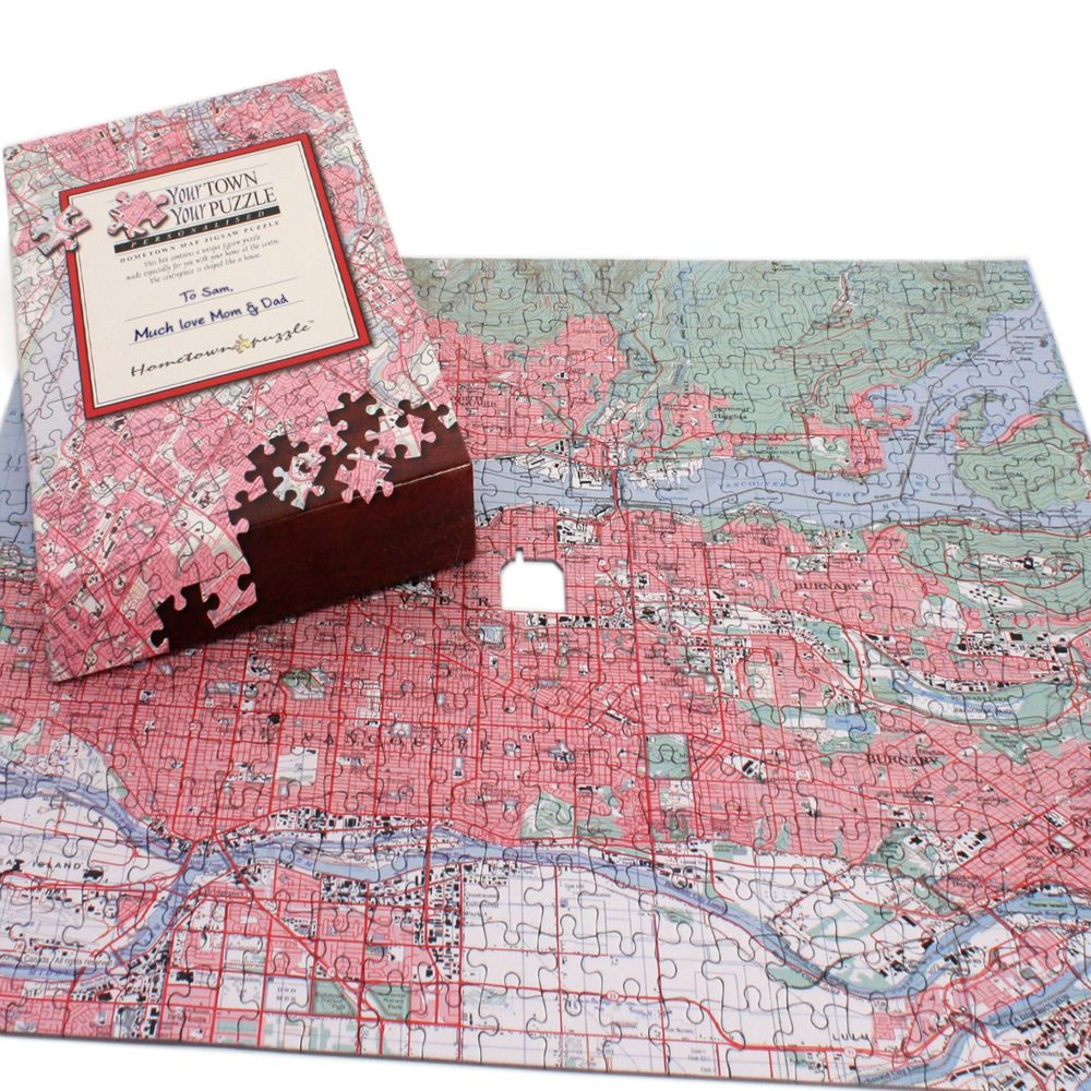 Personalized Your Town Map Puzzle Canadian Edition