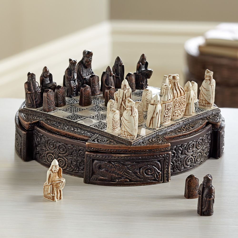 Miniature isle of lewis chess set national geographic store - Lewis chessmen set ...