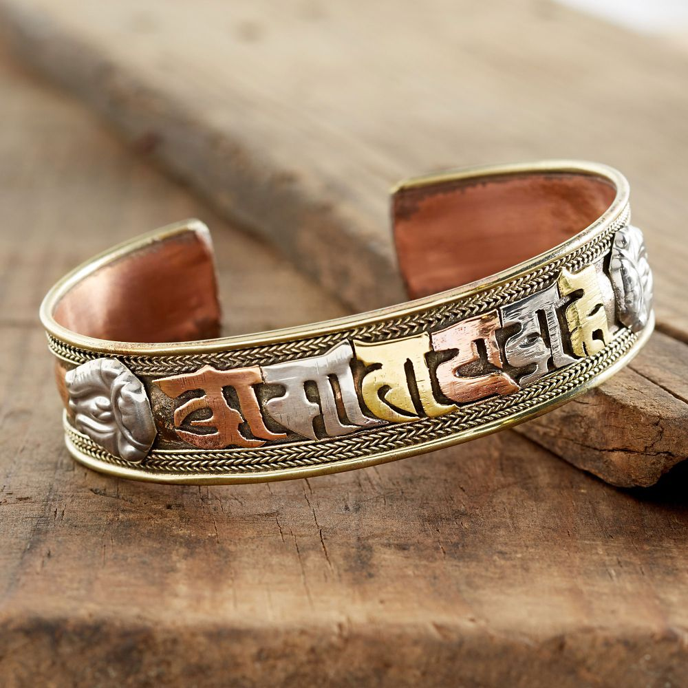 tibetan mantra copper bracelet national geographic store