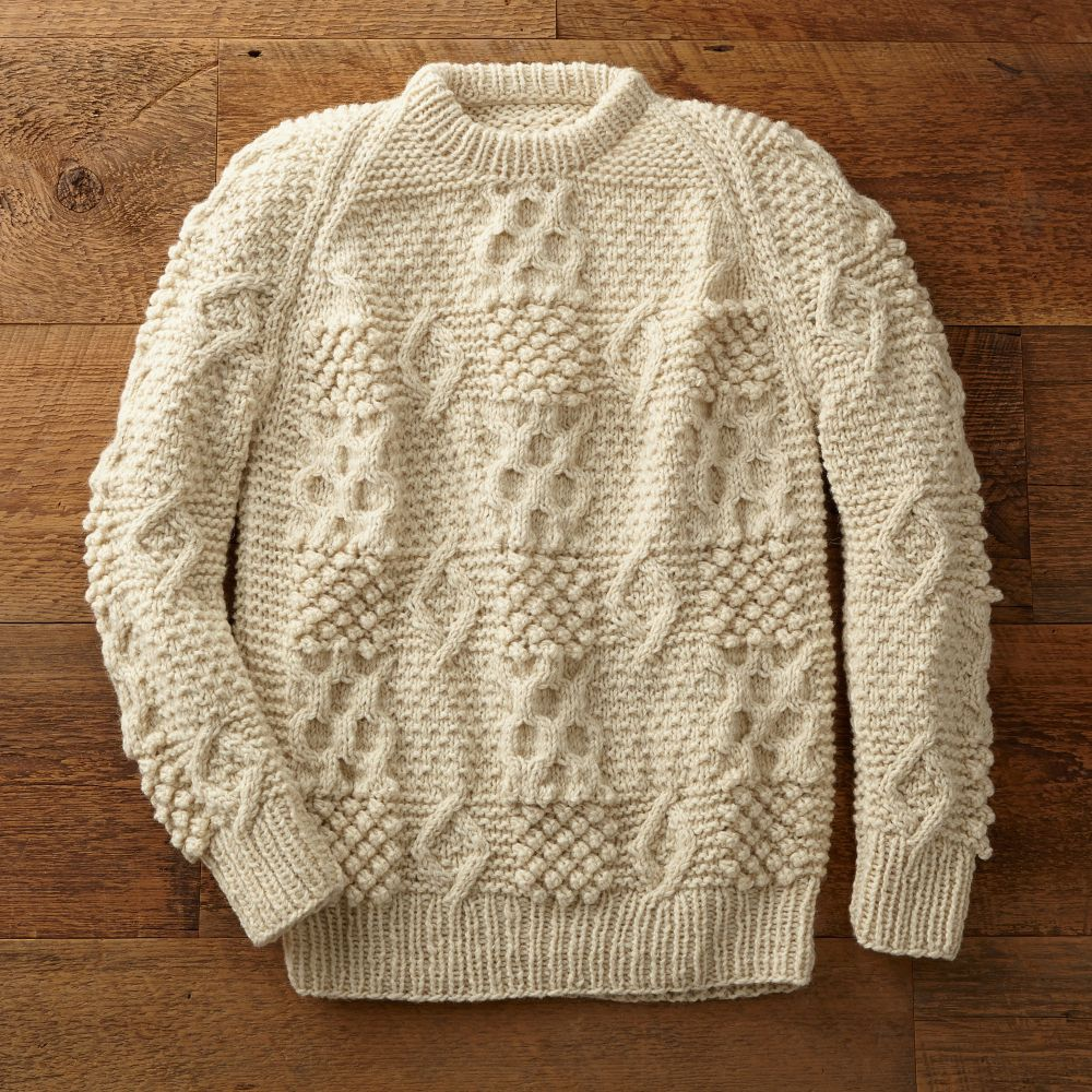 Knitting Patterns Fisherman s Rib Sweater : Portuguese Fisherman Sweater - National Geographic Store