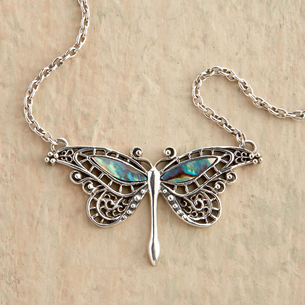 abalone butterfly necklace national geographic store
