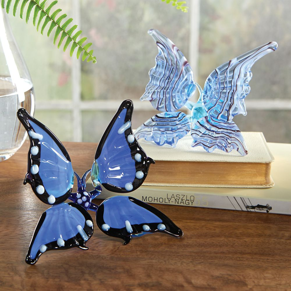 lampworked glass butterfly national geographic store