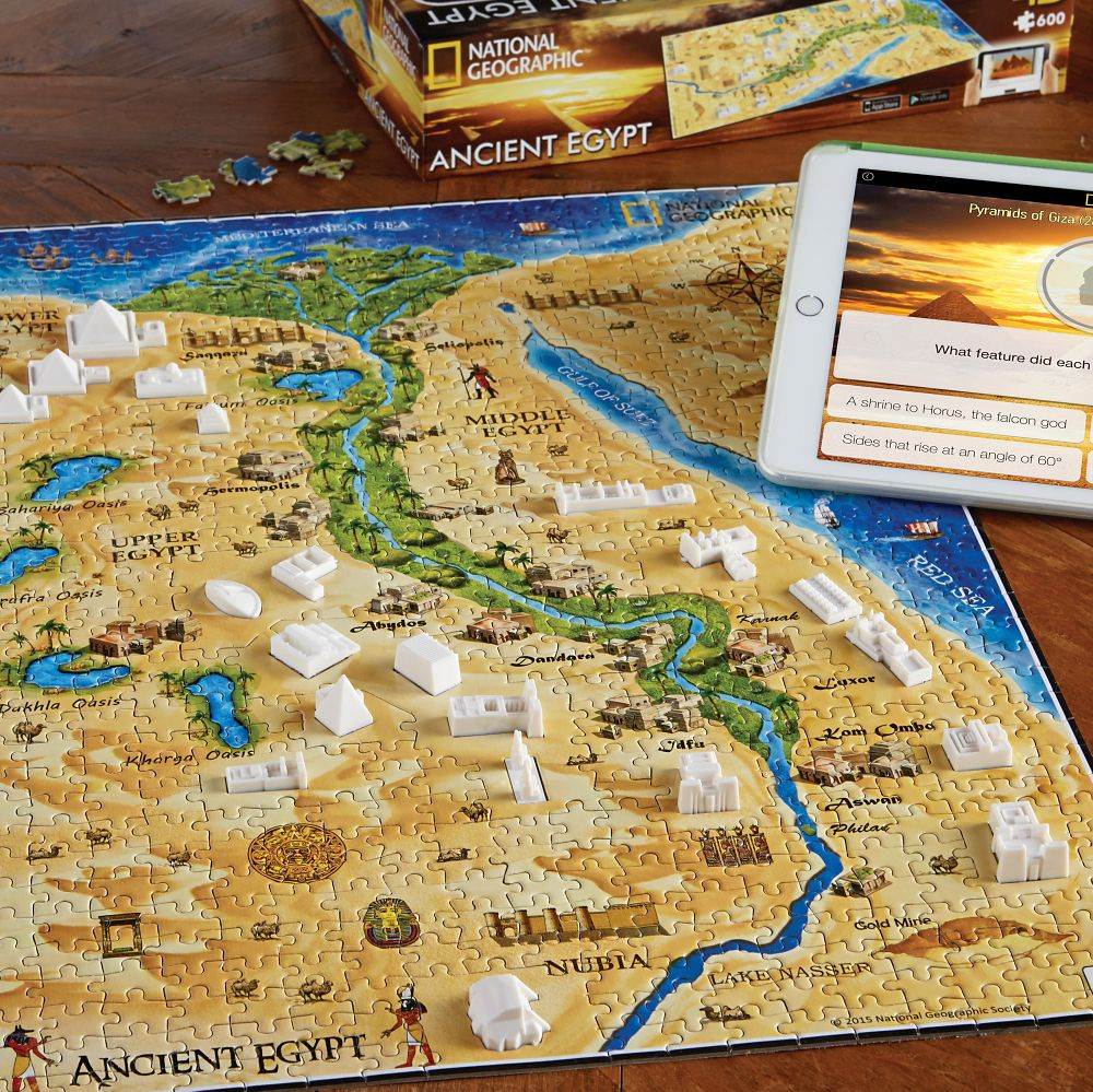 National Geographic D Ancient Civilizations Puzzles National - Map of egypt national geographic