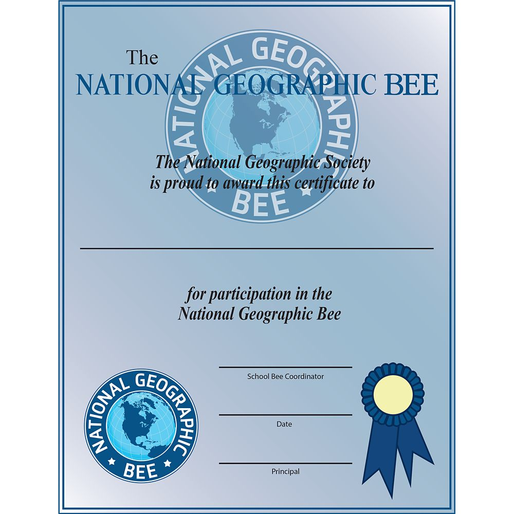 National geographic bee student participation certificate 10 national geographic bee student participation certificate 10 pack national geographic store 1betcityfo Images