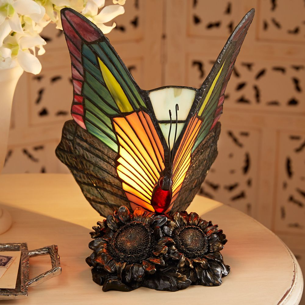 art nouveau butterfly lamp national geographic store
