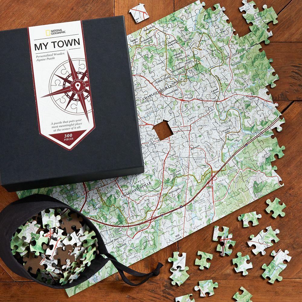Nat Geo Keepsake Custom USGS Map Puzzle National Geographic Store - National geographic us map puzzle