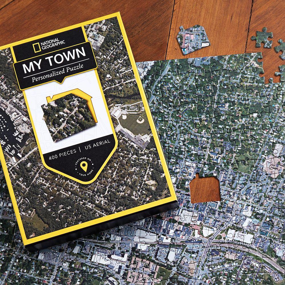 Nat Geo My Town Custom Aerial Map Puzzle National Geographic - National geographic us map puzzle