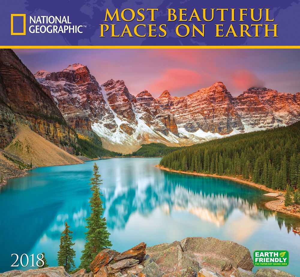 2018 national geographic most beautiful places on earth wall calendar national geographic store