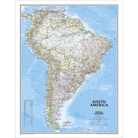 South America Classic Wall Map National Geographic Store - S america map