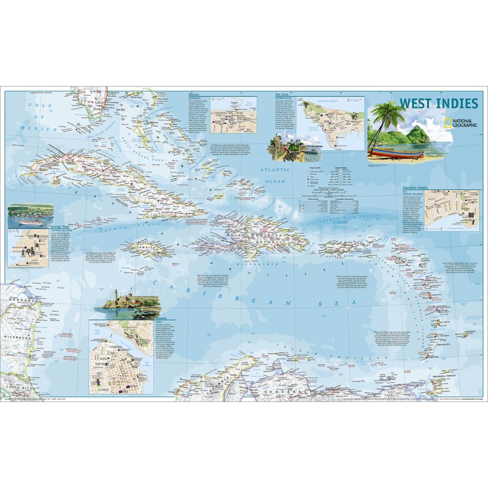 West indies traveler map national geographic store gumiabroncs Choice Image
