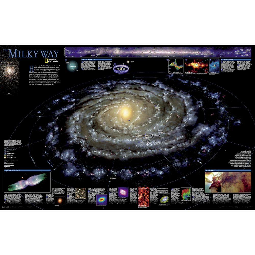 Space And Solar System Posters Wall Murals National Geographic - Space map