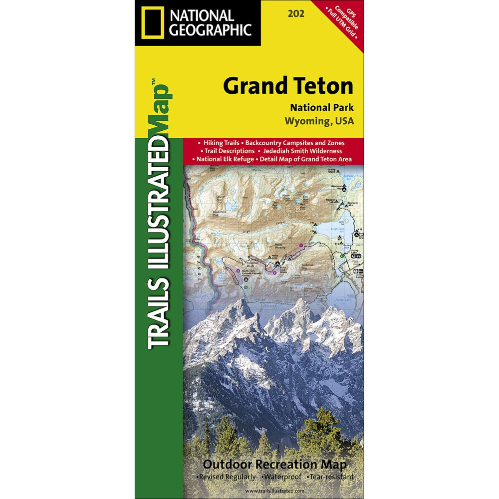 Grand Teton National Park Trail Map National Geographic Store - Us national parks wall map