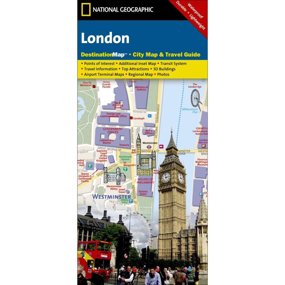 London City Destination Map National Geographic Store - London map with cities