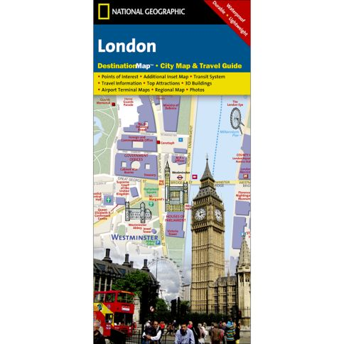 London City Destination Map National Geographic Store - London map guide